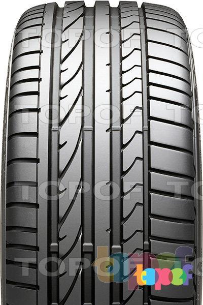 Шины Bridgestone Potenza RE050a. Асимметричный рисунок протектора