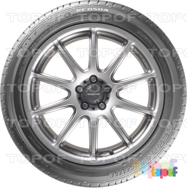 Шины Bridgestone Potenza RE050a. Вид сбоку