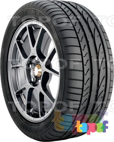 Шины Bridgestone Potenza RE050A Pole Position. Асимметричный рисунок протектора