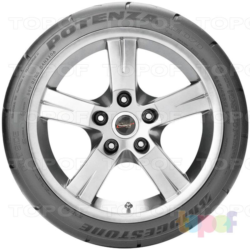 Шины Bridgestone Potenza RE070. Вид сбоку