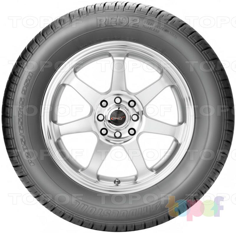 Шины Bridgestone Potenza RE92. Вид сбоку