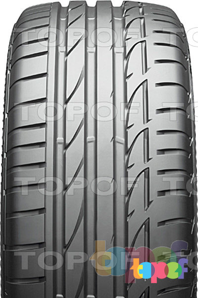 Шины Bridgestone Potenza S001. Внешний вид шины произведенной по беспрокольной технологии 2012 года