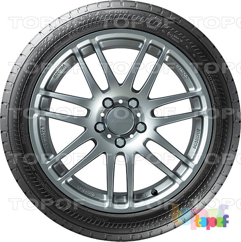 Шины Bridgestone Potenza S001. Боковая сторона шины в RFT исполнении