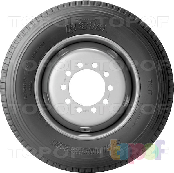 Шины Bridgestone R215. Боковая стенка