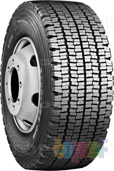 Шины Bridgestone W970. Зимняя грузовая шина для рулевой оси