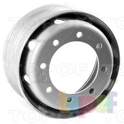 Колесные диски ЧКПЗ 505-3101012ПП. Вид сбоку