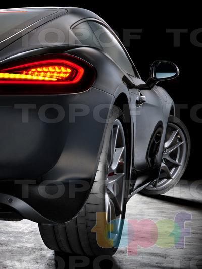 Шины Continental SportContact 6. Спортивная дорожная шина на автомобиле Porsche. Вид сзади
