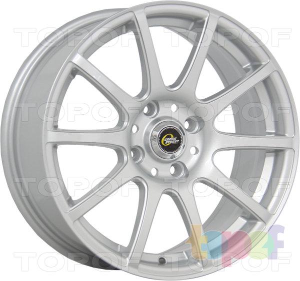 Колесные диски Cross Street Y1010. Цвет Silver