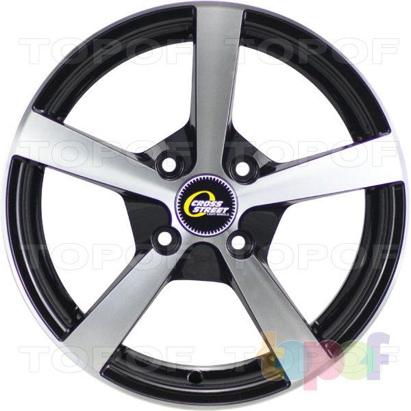 Колесные диски Cross Street Y201. Цвет черный полированный