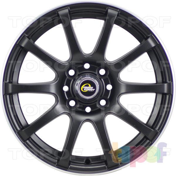 Колесные диски Cross Street Y355. Цвет матовый черный полированный