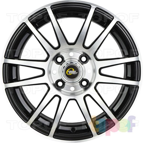 Колесные диски Cross Street Y4917. Цвет черный полированный