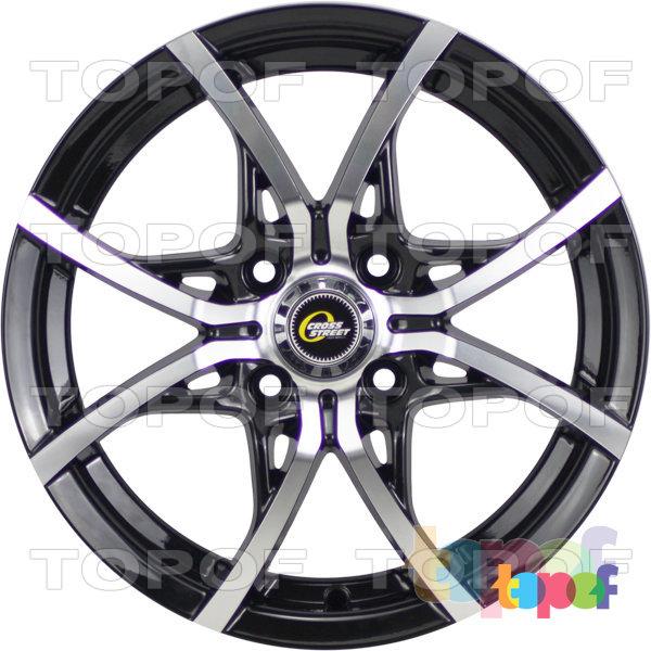 Колесные диски Cross Street Y5314. Цвет черный полированный