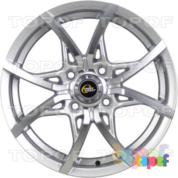 Колесные диски Cross Street Y5314. Цвет серебристый полированный