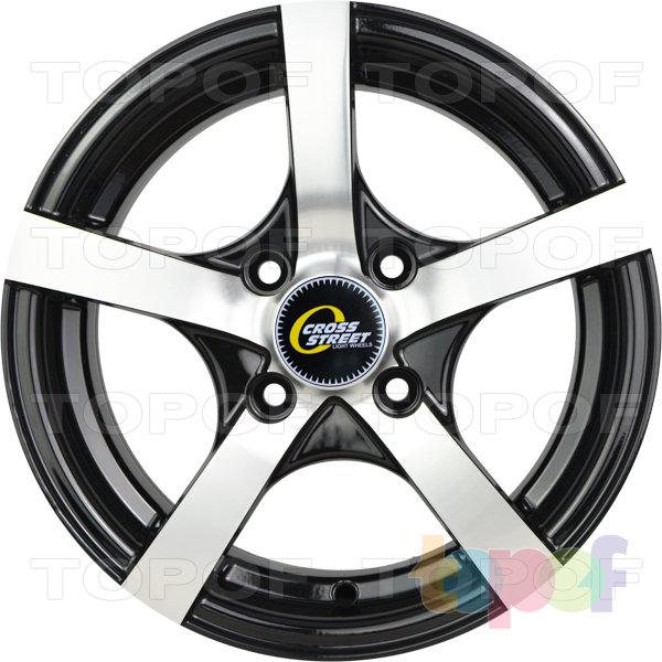Колесные диски Cross Street Y806. Цвет черный полированный