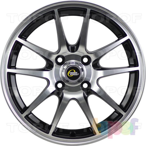 Колесные диски Cross Street Y969. Цвет черный полированный