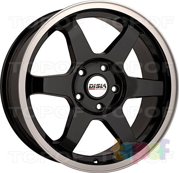 Колесные диски Disla JDM. Цвет - черный с полированным ободом