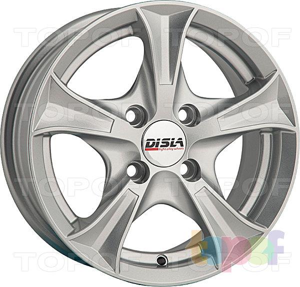 Колесные диски Disla Luxury. Цвет - серебристый