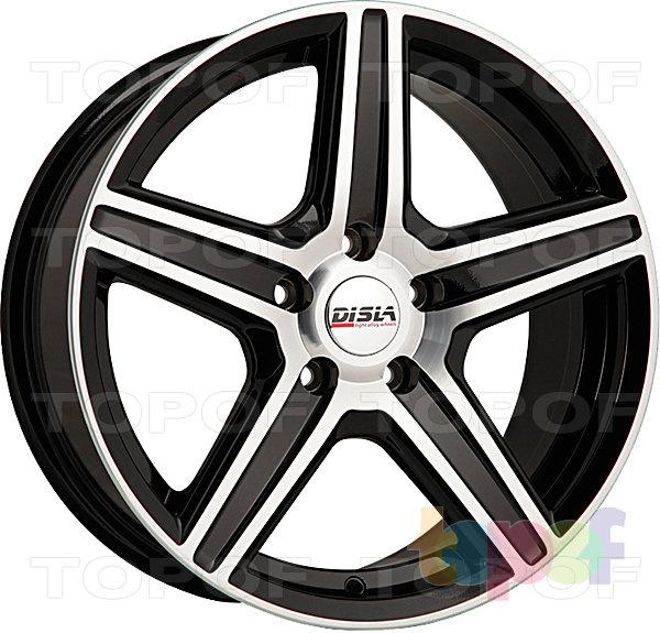 Колесные диски Disla Scorpio. Цвет - черный с полированной лицевой частью