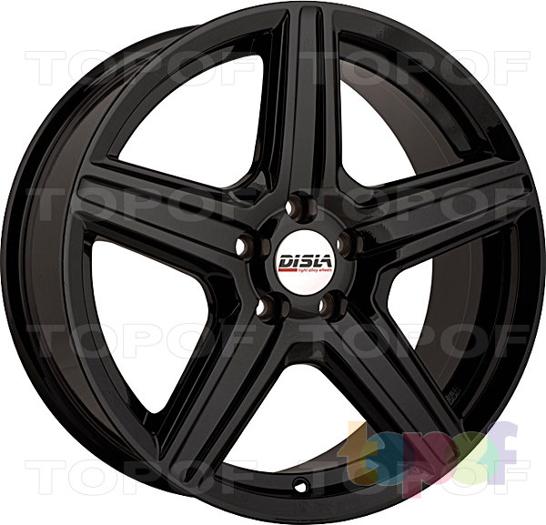 Колесные диски Disla Scorpio. Цвет - черный матовый