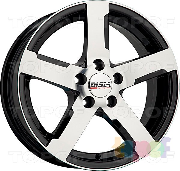 Колесные диски Disla Tornado. Цвет - черный с полированной лицевой частью