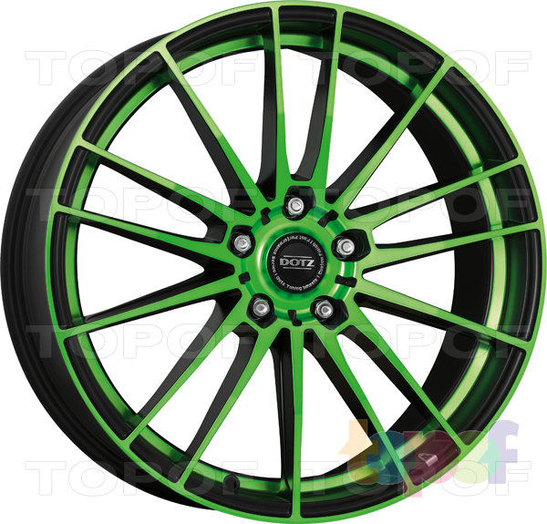 Колесные диски DOTZ Fast Fifteen. Зеленый