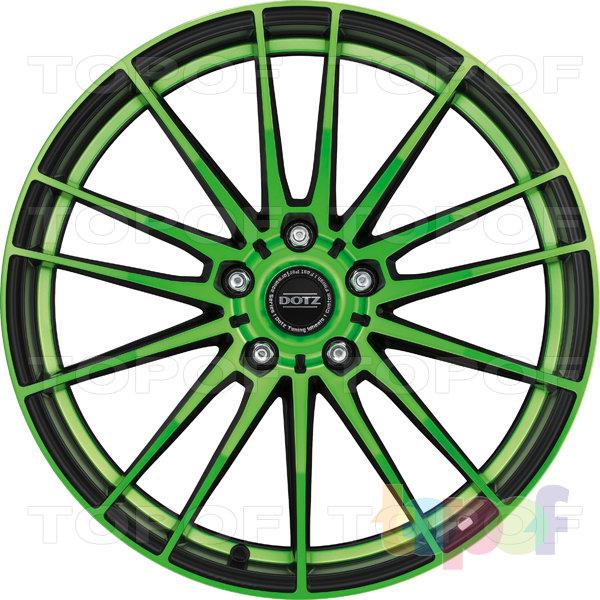 Колесные диски DOTZ Fast Fifteen. Зеленый - лицевая часть