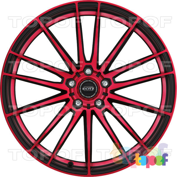 Колесные диски DOTZ Fast Fifteen. Красный (фронтально)