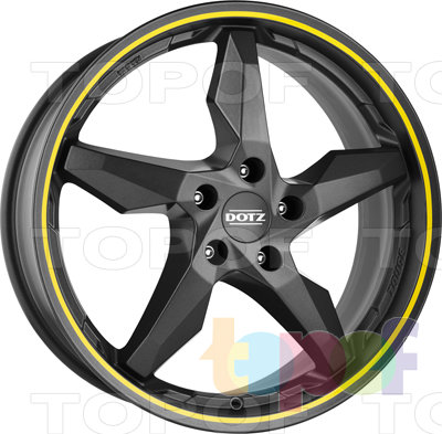 Колесные диски DOTZ Touge Graphite. Цвет желтый