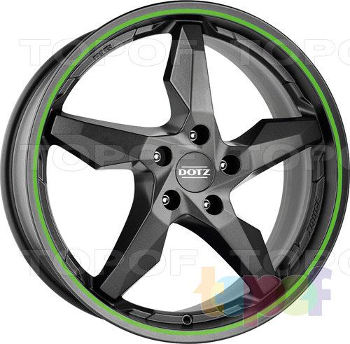 Колесные диски DOTZ Touge Graphite. Цвет зеленый