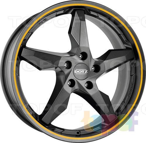 Колесные диски DOTZ Touge Graphite. Цвет оранжевый