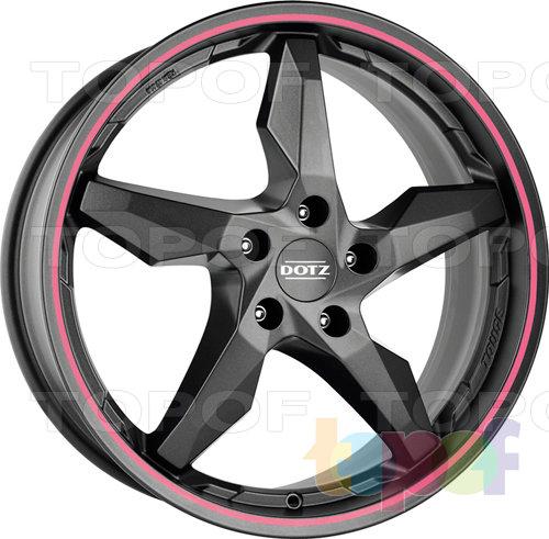 Колесные диски DOTZ Touge Graphite. Цвет розовый