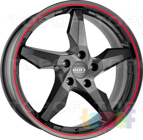 Колесные диски DOTZ Touge Graphite. Цвет красный