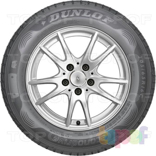 Шины Dunlop EconoDrive. Боковая стенка