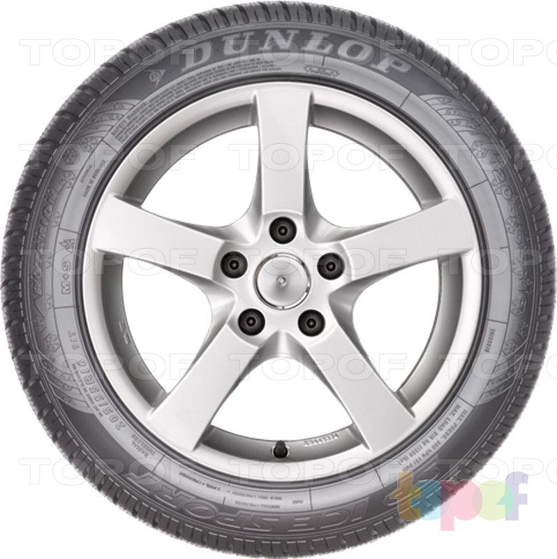 Шины Dunlop SP Ice Sport. Боковая стенка