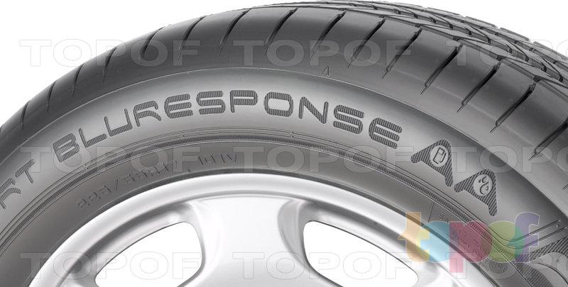 Шины Dunlop SP Sport BluResponse AA. Боковая стенка