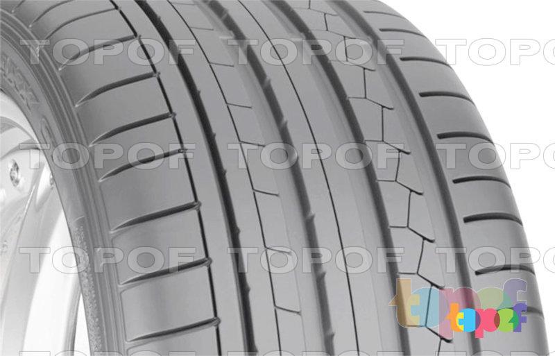 Шины Dunlop SP Sport Maxx GT. Асимметричный рисунок протектора