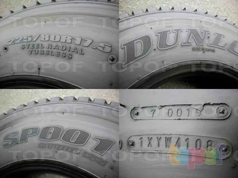 Шины Dunlop SP001. Изображение модели #2