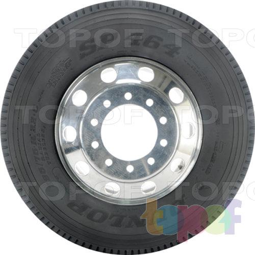 Шины Dunlop SP464. Вид сбоку