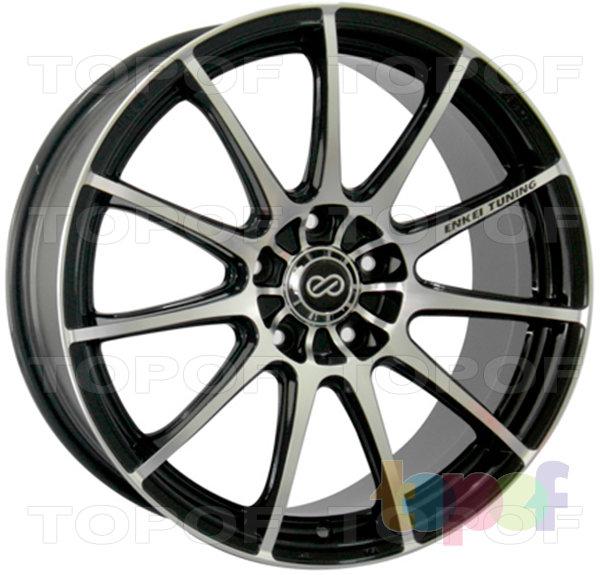Колесные диски Enkei SC22. Цвет колесного диска - BKF (черный, полностью полированный)