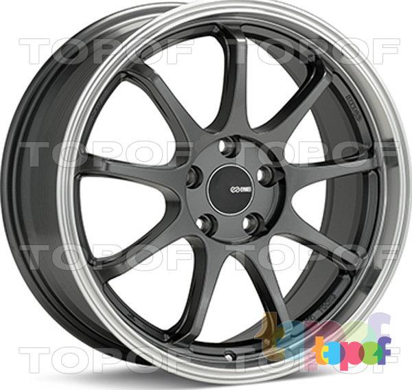 Колесные диски Enkei Tenjin. Цвет GMF (серый с полированным ободом)