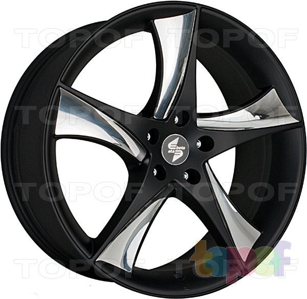 Колесные диски Eta Beta Jofiel. Цвет - черный с серебристыми вставками