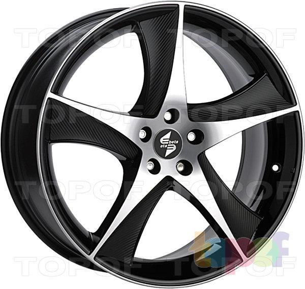 Колесные диски Eta Beta Jofiel. Цвет - черный полированный с черными карбоновыми вставками