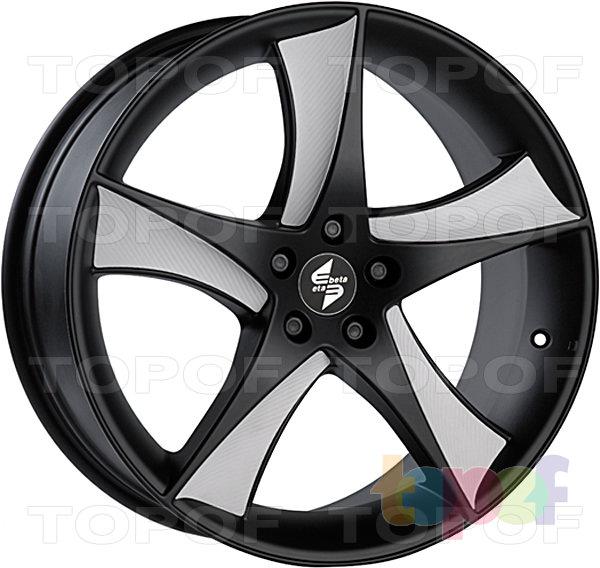 Колесные диски Eta Beta Jofiel. Цвет - черный с белыми карбоновыми вставками