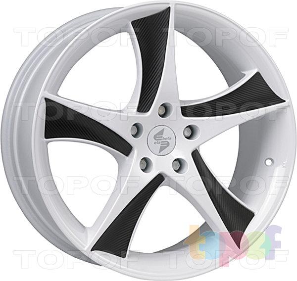 Колесные диски Eta Beta Jofiel. Цвет - белый керамический с черными карбоновыми вставками