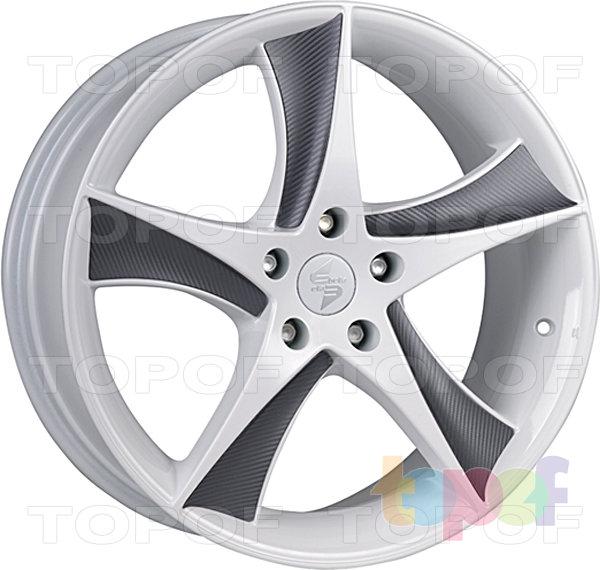 Колесные диски Eta Beta Jofiel. Цвет - белый керамический с серыми карбоновыми вставками