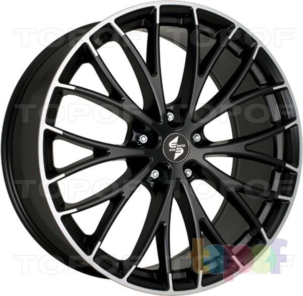 Колесные диски Eta Beta Piuma C. Цвет колесного диска - Special Edition (черный глянцевый с полированным ободом)