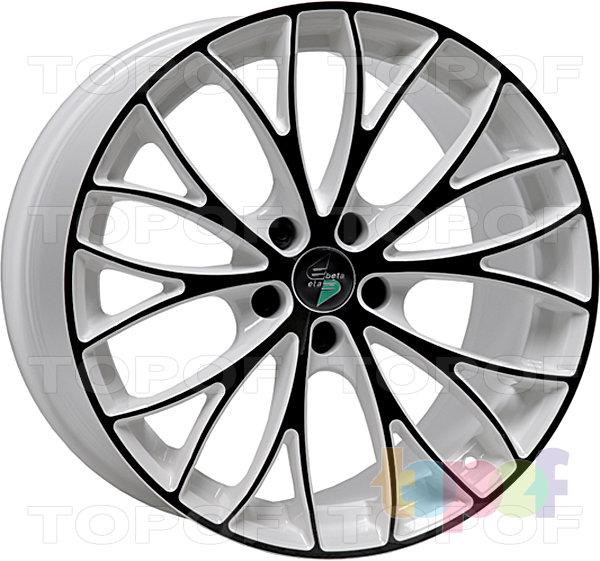 Колесные диски Eta Beta Piuma C. Цвет - белый с черными прожилками по кромке обода и на лучах