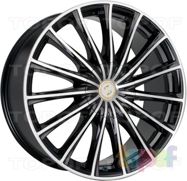 Колесные диски Eta Beta Pregio. Цвет колесного диска - Black Matt Polished (черный матовый, полированный полностью)