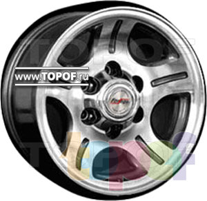 Колесные диски Forsage P0811. Изображение модели #1