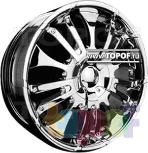 Колесные диски Forsage P8086. Изображение модели #1